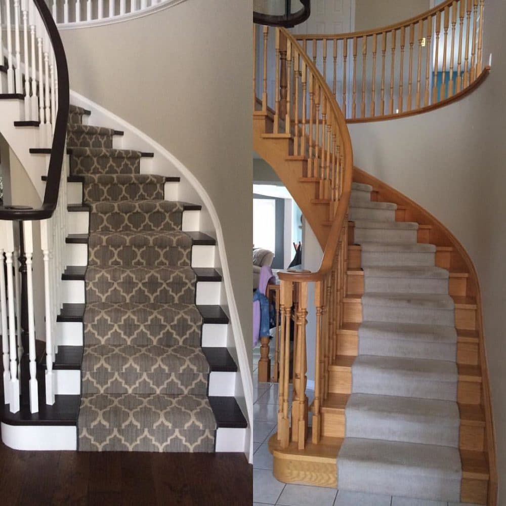 Before & After Stained Stairs