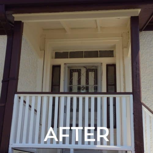 After Precision Painted Front Entrance