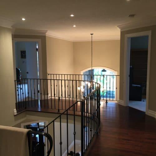 Newly Painted Grey Hallway